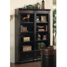 Rowan Traditional Black and Espresso Bookcase