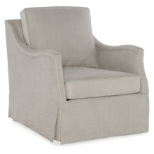 Living Room Oberlin Skirted Swivel Chair