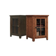 Dakota lower storage cabinet with Arts & Crafts styling features a universa...