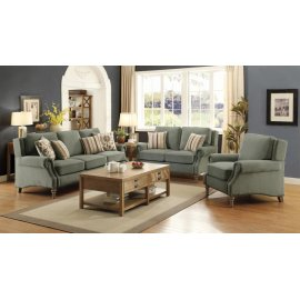 Rosenberg Light Sage Three-piece Living Room Set