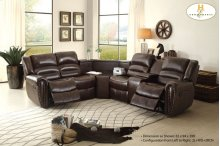 Right Side Reclining Love Seat with Center Console