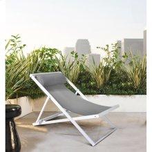 Wave Outdoor Patio Aluminum Deck Chair