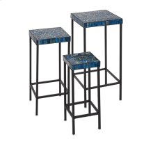 Peacock Mosaic Tables - Set of 3