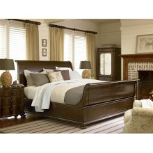 River House Sleigh Bed (King) - River Bank