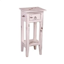 CC-TAB1792HD-WW  Cottage Narrow Side Table  Heavy Distressed  White Washed