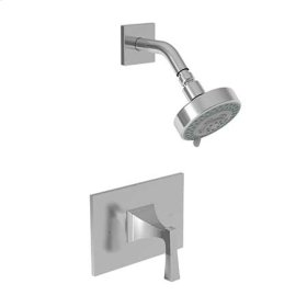 Matte White Balanced Pressure Shower Trim Set
