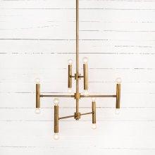Davina Chandelier-brushed Brass
