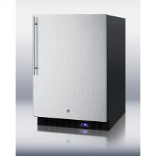 Frost-free Outdoor All-freezer With Icemaker, Digital Thermostat, LED Light, Black Cabinet, Lock, Stainless Steel Door and Thin Handle