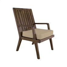 Teak Arm Chair Cushion in Cream
