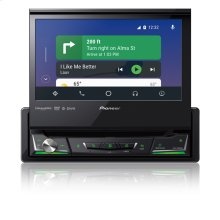 """1-DIN Multimedia DVD Receiver with 6.8"""" WVGA Display, Apple CarPlay , Android Auto , Built-in Bluetooth®, and SiriusXM-Ready"""