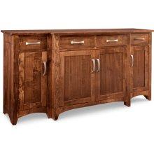 Glengarry Sideboard w/Bump Out & 4/Wood Doors & 4/Dwrs & 1/Wood Halfshelf