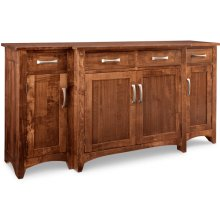 Glengarry Sideboard w/Bump Out & 4/Wood Doors & 4/Dwrs & 1/Wood Halfshelf