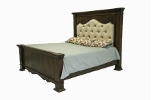 Terra Dark King Upholstered Bed