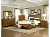 Intercon Bedroom Sleigh King Bed Storage Footboard