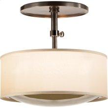 Visual Comfort BBL5024BZ-S Barbara Barry Reflection 2 Light 15 inch Bronze Hanging Shade Ceiling Light