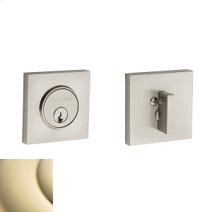Lifetime Polished Brass Contemporary Square Deadbolt Product Image