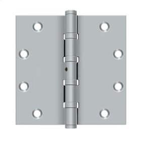 "5""x 5"" Square Hinges, Ball Bearings - Brushed Chrome"