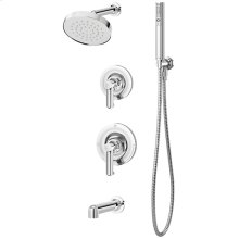 Symmons Museo® Tub/Shower/Hand Shower System - Polished Chrome