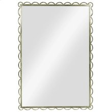 Scallop Mirror-Silver Leaf