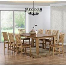 DLU-BR4272-C60-PW9PC  9 Piece Extendable Table Dining Set