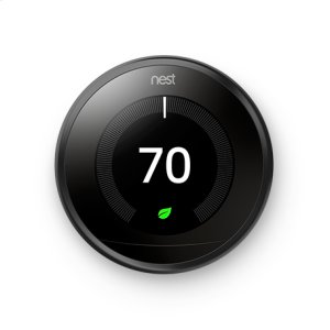 NestNest Learning Thermostat - 3rd generation, Black