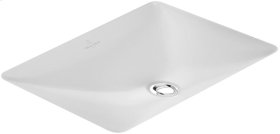 Undercounter washbasin (rectangular) Angular - White Alpin CeramicPlus