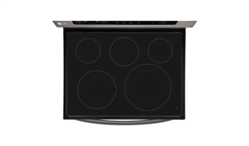 LG Black Stainless Steel Series 6.3 cu. ft. Capacity Electric Single Oven Range with True Convection and EasyClean®