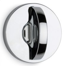 Modern Round Turnpiece - Solid Brass in MS (MaxSteel Plated)