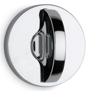 Modern Round Turnpiece - Solid Brass in MS (MaxSteel Plated) Product Image