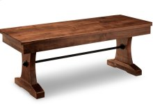 "Glengarry 48"" Pedestal Bench with Wood Seat"