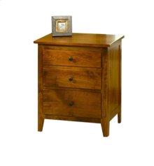 Jamestown Square 3-Drawer Nightstand