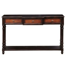 Two Tone Rub-Through Console Table