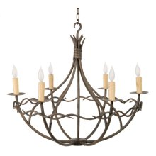 Norfork Iron Chandelier 6 Arm