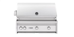 """Clearance Model - One of a Kind - 36"""" Built-in Grill with Trident Burner and Rotisserie (L36PSR-2) - Liquid propane"""