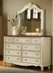 French Country Dresser and Mirror
