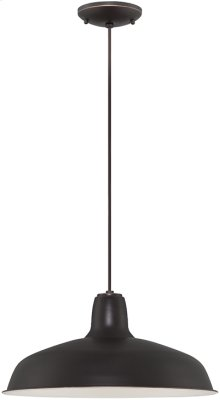 Pendant, Dark Bronze/metal Shade, E27 Type A 60w