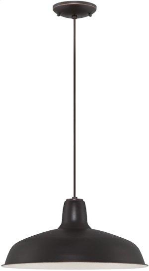 Pendant, Dark Bronze/metal Shade, E27 Type A 60w