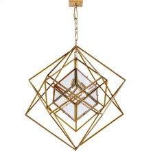Visual Comfort KW5021G-CG Kelly Wearstler Cubist 4 Light 31 inch Gild Pendant Ceiling Light, Kelly Wearstler, Medium, Chandelier, Clear Glass