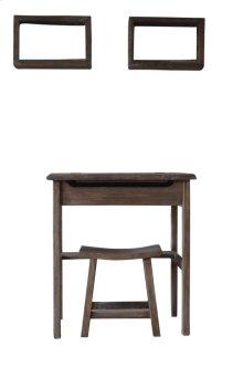 S/4 Vanity,Stool&2 Shelves