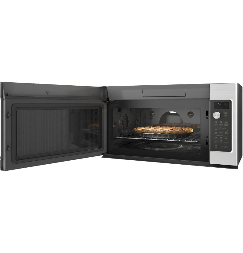 Ge Cafe Series 1 7 Cu Ft Convection Over The Range Microwave