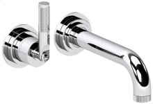 "Chrome Plate 2 Hole wall mounted tub mixer, without plate, 7 1/4"" spout length"