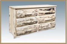 Montana Rustic 6 Drawer Dresser