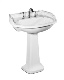 Barrymore Pedestal Lavatory in White