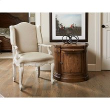 Thoroughbred Curlin Upholstered Arm Chair - White Gesso