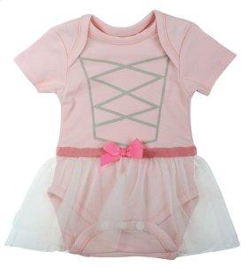 "6 pc. ppk. ""Tiny Dancer"" 3D Diaper Shirt."