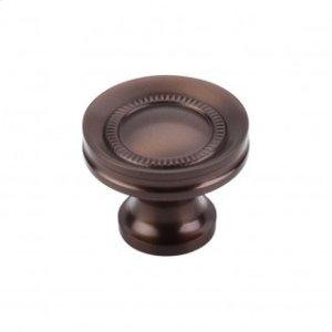Button Faced Knob 1 1/4 Inch - Oil Rubbed Bronze
