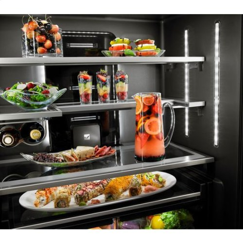 "Euro-Style 72"" Counter-Depth French Door Refrigerator with Obsidian Interior"