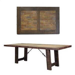 "8' : 96"" x 42"" x 30"" ""Las Piedras"" Painted Table"