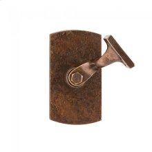 Convex Handrail Bracket Silicon Bronze Brushed