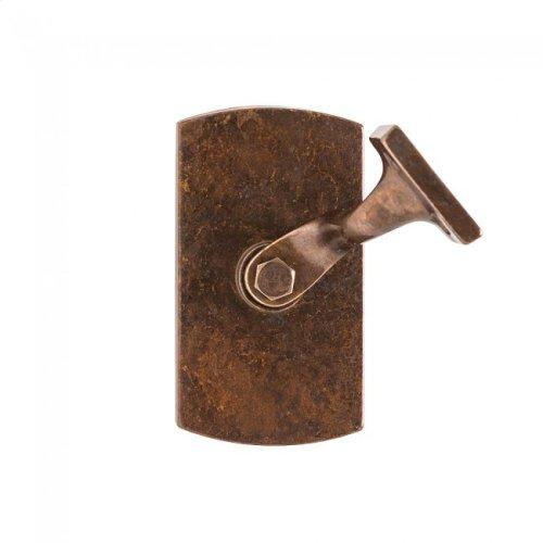 Convex Handrail Bracket Silicon Bronze Rust